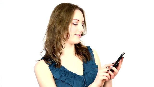 SMS texting, isolated.