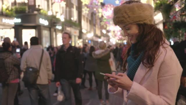 Texting night street