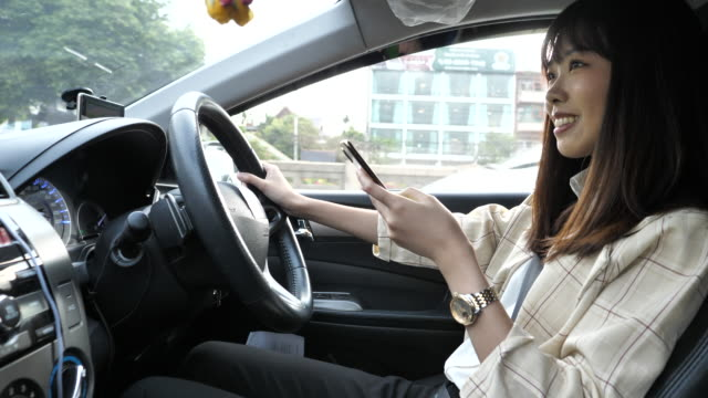 texting while driving - oblivious stock videos & royalty-free footage