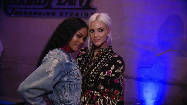 Teyana Taylor Ashlee Simpson at CIROC Studios Launch Event Hosted by DJ Khaled at the iconic Record Plant Studios in Los Angeles CA