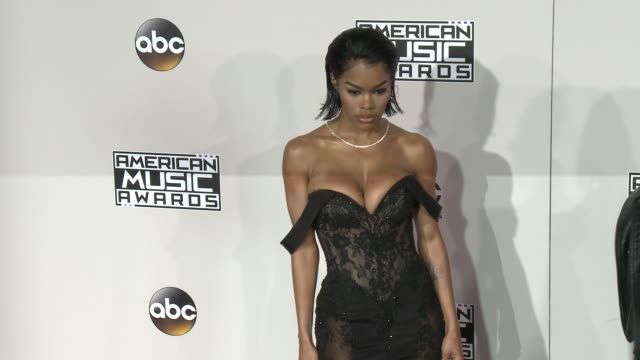 teyana taylor at 2016 american music awards at microsoft theater on november 20 2016 in los angeles california - american music awards stock videos and b-roll footage