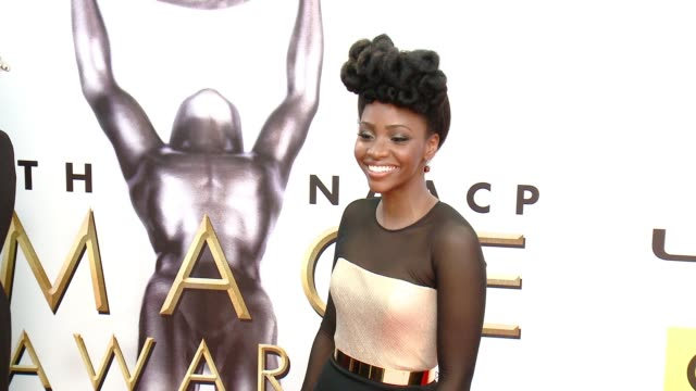 teyonah parris at 47th annual naacp image awards at pasadena civic auditorium on february 05 2016 in pasadena california - pasadena civic auditorium stock-videos und b-roll-filmmaterial