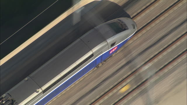 tgv at speed - france stock videos & royalty-free footage
