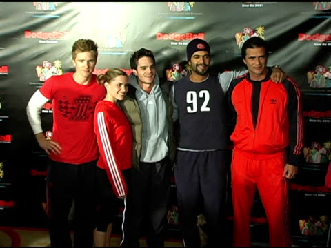 Thad Luckinbill Ashley Bashioum Gregg Rikaart Kristoff St John and John Enos at the Dodgebal The Celebrity Tournament at Hollywood Palladium in...