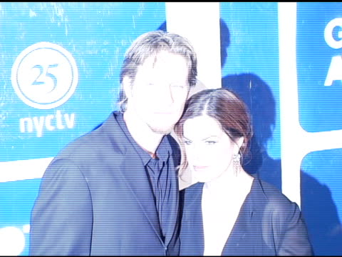 thaddaeus scheel and marcia gay harden at the ifp's 15th annual gotham awards arrivals at pier 60 at chelsea piers in new york, new york on november... - independent feature project video stock e b–roll