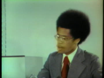 thaddeus garrett, rep. shirley chisholm's campaign aide, talks about the misrepresentation of committed mcgovern delegates. - 1972 stock videos & royalty-free footage
