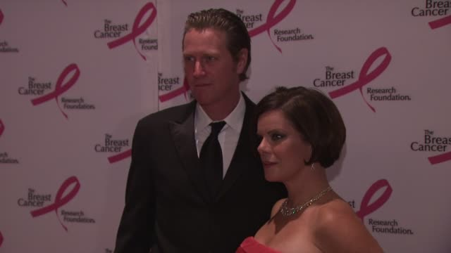 thaddeus scheel and actress marcia gay harden at the 2010 breast cancer research foundation's hot pink party arrivals at new york ny - hot pink stock videos and b-roll footage