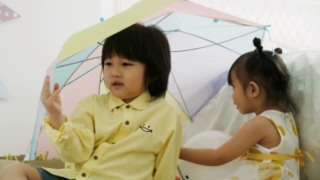 thai children playing at home - tidy room stock videos & royalty-free footage