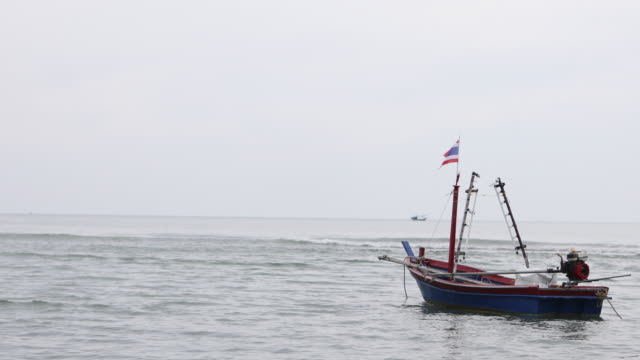 thai fishing boat on sea - baltic sea stock videos and b-roll footage