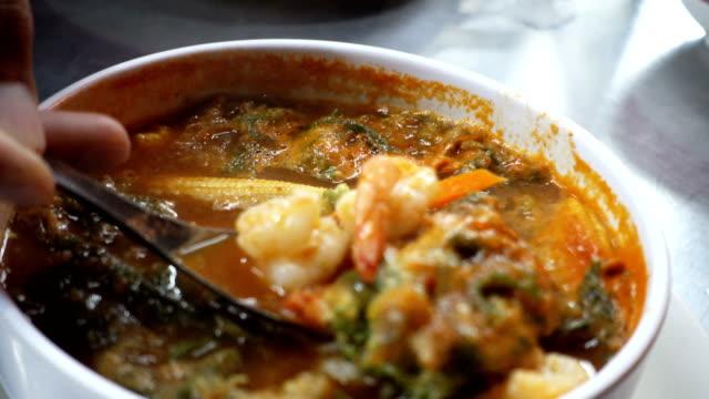 thai food recipe, kaeng som. - sugar food stock videos and b-roll footage