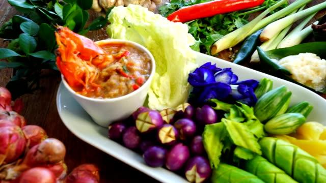 Thai Food Shrimp Nam Prik Set