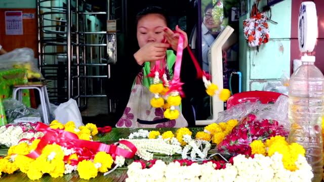 Thai Garland Religious Offering Flower Market