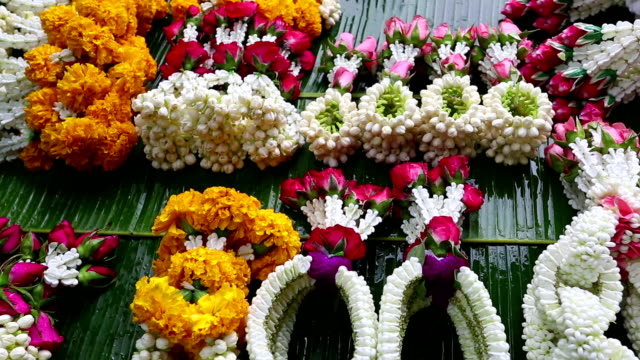 Thai Garland Religious Offering Flower Market