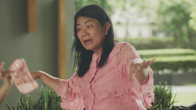 thai grandmother with storytelling of bird for teaching her niece - acting stock videos & royalty-free footage