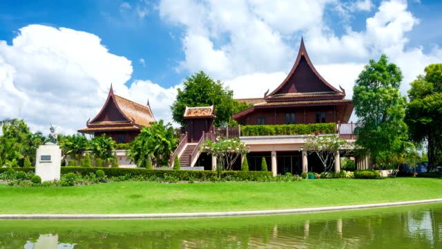 thai house style of thailand - thai ethnicity stock videos & royalty-free footage
