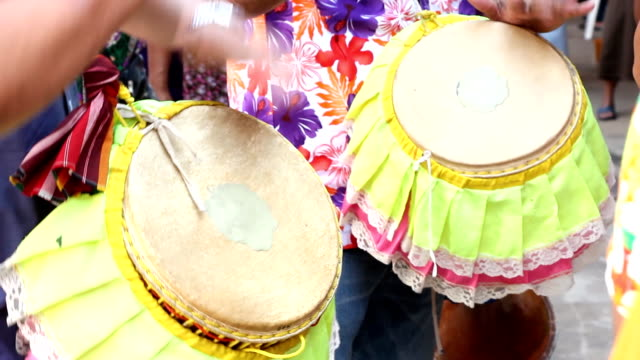 thai long drum performance - thai ethnicity stock videos & royalty-free footage