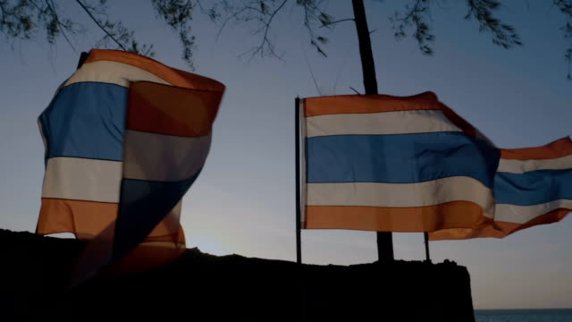 thai national flag - todchamp stock videos and b-roll footage