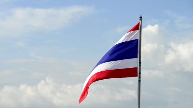 Thai national flag waving