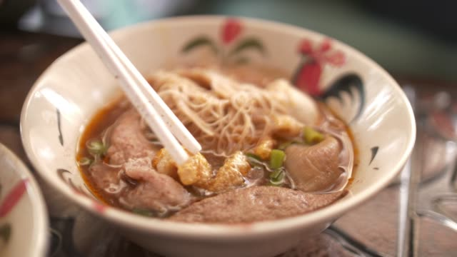 thai noodle - bowl stock videos and b-roll footage