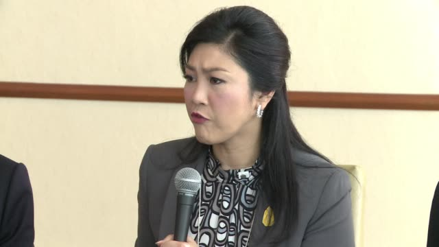 stockvideo's en b-roll-footage met thai prime minister yingluck shinawatra hits out at critics and says election is the best way forward clean thai pm hits out at critics on january 17... - criticus