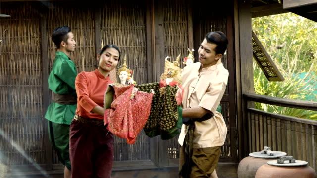 thai puppet show - mythologie stock-videos und b-roll-filmmaterial