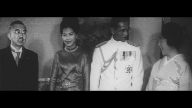 thai royal couple journeys in japan/carriage carrying royal couple heads for imperial residence their majesties meet the royals welcoming banquet... - deer family stock videos and b-roll footage