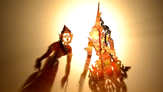 thai shadow puppet in phetchaburi - puppet stock videos and b-roll footage