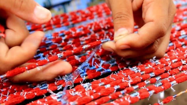 Thai silk woven process