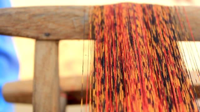 thai silk woven process - ball of wool stock videos & royalty-free footage