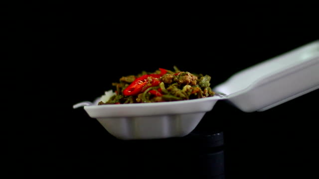 thai street food - polystyrene stock videos & royalty-free footage