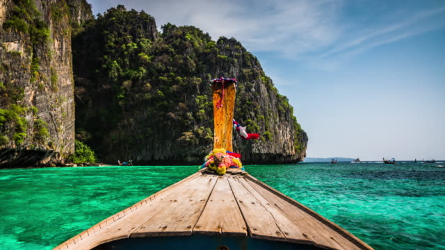 thai taxi boat point of view - water taxi stock videos & royalty-free footage