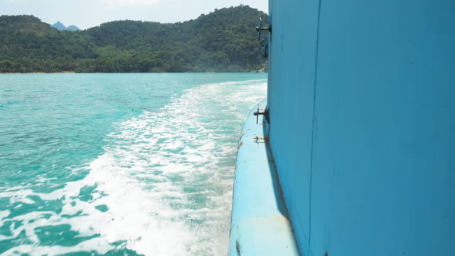 thai taxi boats in thailand - koh chang stock videos and b-roll footage