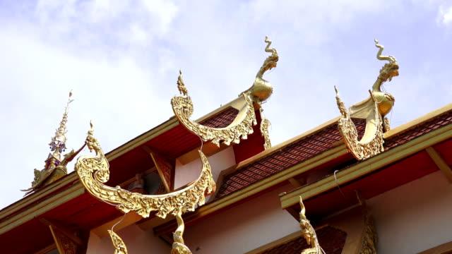 zo/thai-tempel - provinz chiang mai stock-videos und b-roll-filmmaterial
