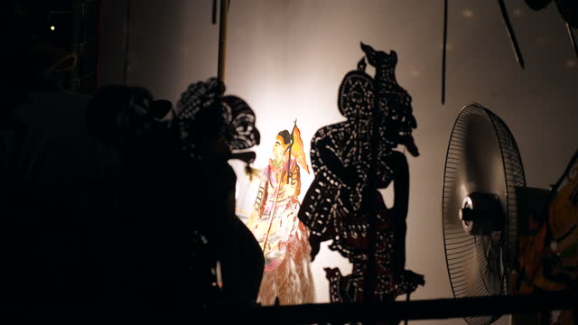 thai traditional shadow play or nang yai is a performing art to preserve as a thai heritage - puppet stock videos & royalty-free footage