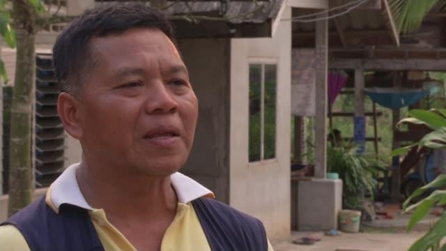 vídeos de stock, filmes e b-roll de thai vigilante groups tackling human smuggling somjit bangkrak interview sot [translation voiced over] we fired our guns to scare them and stop them... - smuggling