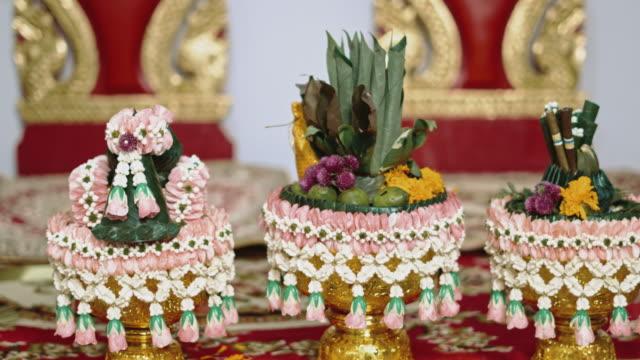 thai wedding ceremony style - ceremony stock videos & royalty-free footage