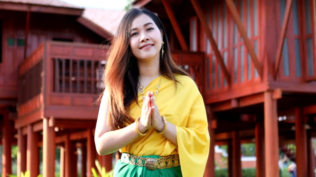 thai woman dressing with traditional style - traditional clothing stock videos & royalty-free footage