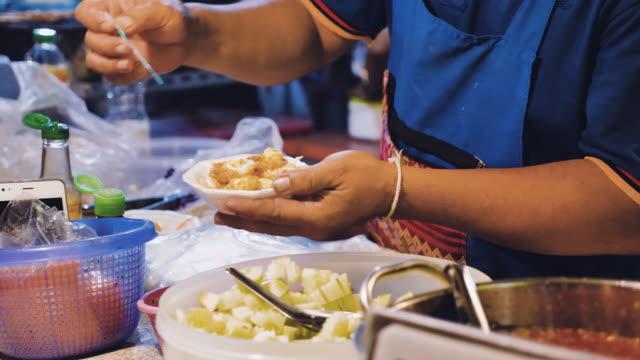 thailand dessert - thai ethnicity stock videos & royalty-free footage
