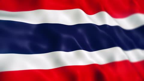 vídeos y material grabado en eventos de stock de bandera de tailandia - cultura tailandesa