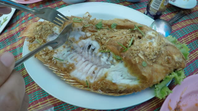 thailand food - eating utensil stock videos and b-roll footage