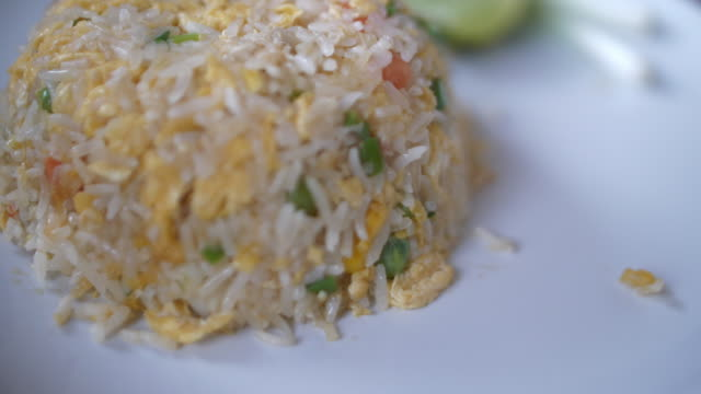 thailand food with delicious flavor - fried rice stock videos and b-roll footage