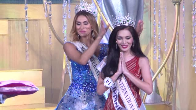 thailand hosts international transgender beauty pageant or miss international queen 2015 with 17 contestants from around the world - beauty queen stock videos and b-roll footage