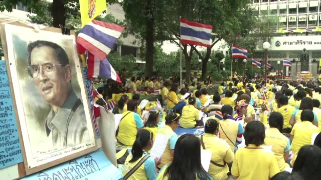 thailand marked the eighty eighth birthday of its revered but ailing king bhumibol adulyadej on saturday - king of thailand stock videos and b-roll footage