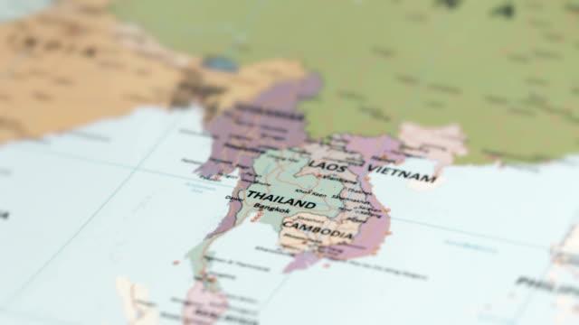 Asie Thailande sur carte du monde