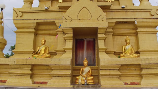 thailand temple flyover - ko samui stock videos and b-roll footage