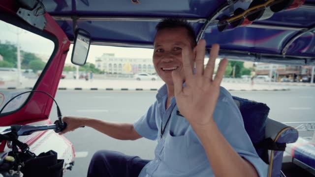thailand tuk tuk vehicle for transport tourist people - jinrikisha stock videos & royalty-free footage