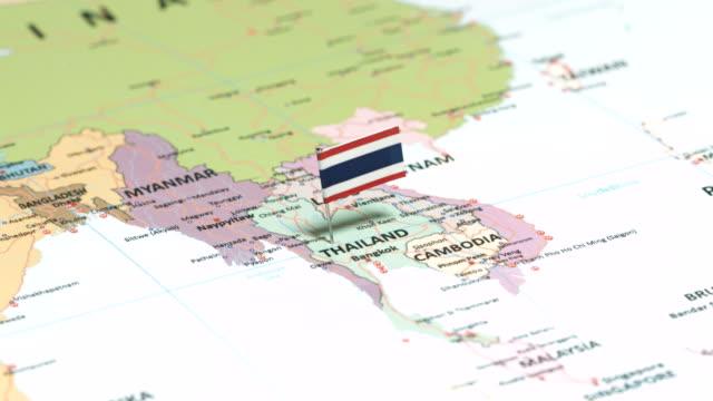 Thaïlande avec drapeau National