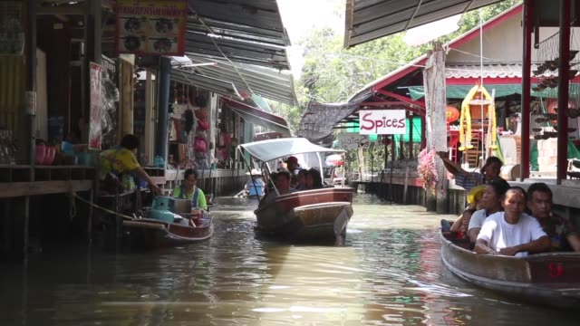 thailand's most famous floating market - bangkok stock videos & royalty-free footage