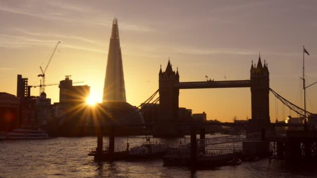thames dusk. - sunbeam stock videos & royalty-free footage