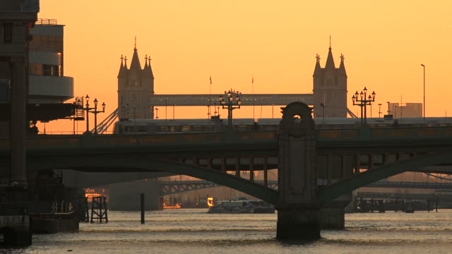 Thames River and Tower Bridge in the morning, London, England, Great Britain